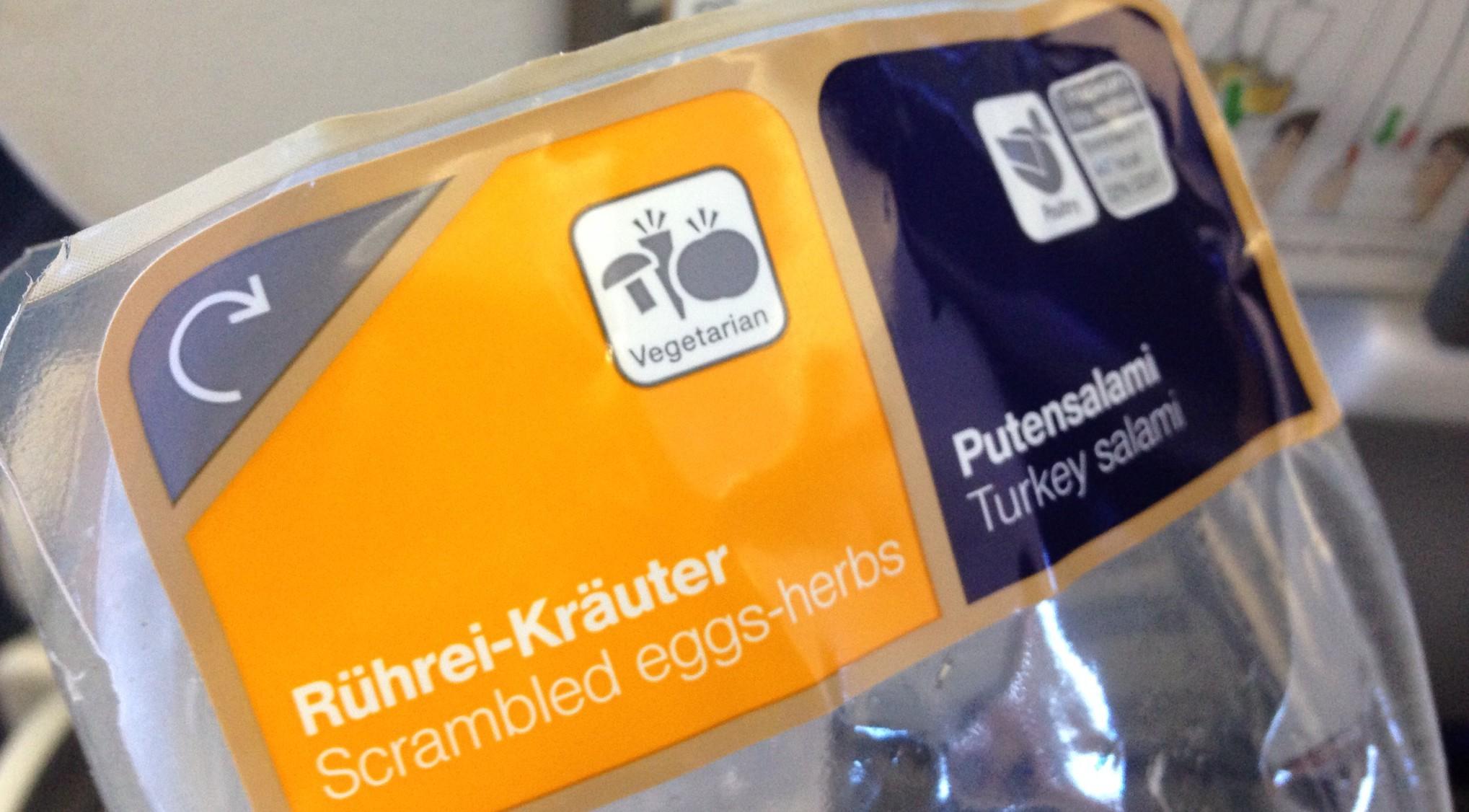 Sandwich bei Lufthansa